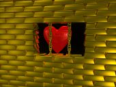 Heart In Gold Cage