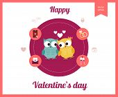 Flat design set for icons for Valentines day, wedding, love and romantic events.