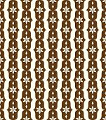 Brown Classic Flower And Lobe Seamless Pattern
