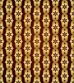 Gold Classic Flower And Lobe Seamless Pattern