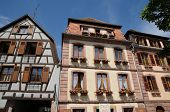 France, The Village Of Bergheim  In Alsace