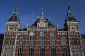Central Railway Station In Amsterdam
