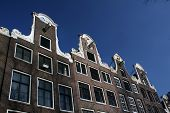 Top Of Canal Houses In Amsterdam