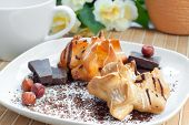 pastry with chocolate and nuts