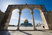 pic of aqsa  - Dome of the rock on the Temple Mount in Jerusalem - JPG