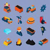 Coal Industry Isometric Set