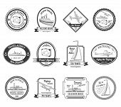 Cruise travel agency tours labels