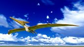 stock photo of pterodactyl  - Flying pterodactyl over the sky - JPG