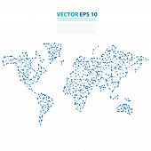 foto of earth structure  - Vector Abstract Telecommunication Earth Map - JPG