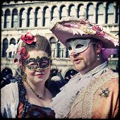stock photo of venice carnival  - VENICE ITALY FEBRUARY 12 2012 - JPG