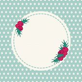 pic of holly  - Vintage hand drawn seasonal greeting card with holly - JPG