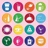 vector collection of cafe and restaurant icons