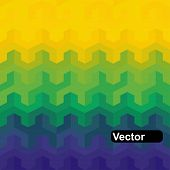Vector geometric background in Brazil flag