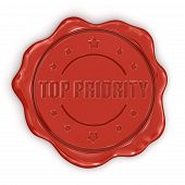 Wax Stamp Top Priority (clipping path included)