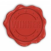 Wax Stamp Winner (clipping path included)