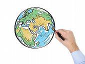 Hand Drawing Earth