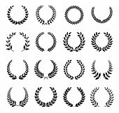 Vector Laurel Wreaths Set