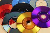 Colored Mini Cd's & Dvd's