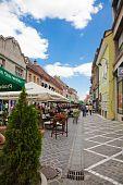 Republicii Street In Brasov