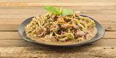 Thai Food - Dish Of Spicy Mango Salad