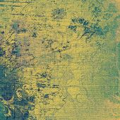 Textured old pattern as background. With different color patterns: yellow (beige); green; blue; cyan
