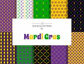 Mardi Gras Pattern Backgrounds