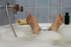 picture of hot water  - A man - JPG