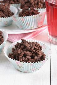 foto of crispy rice  - Chocolate covered crispy rice cakes a favorite children - JPG