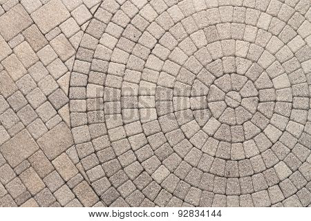 Circle Design Pattern In Patio Paving