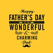 image of occasion  - Elegant greeting or invitation card design in yellow color for wonderful charming Dad on occasion of Happy Father - JPG