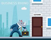 foto of rhino  - Business rhino - JPG