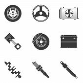 picture of accumulative  - Vector set of auto spare parts - JPG