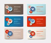 pic of visitation  - set of colorful visiting cards with icons vector illustration eps 10 with transparency - JPG