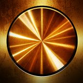 stock photo of iron star  - golden metal with round pattern - JPG