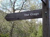 The Crags Signpost