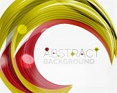 image of slogan  - Vector swirl line abstract background - JPG