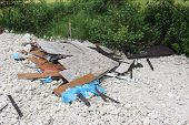 image of dump  - a picture of illegal dumping in the woods - JPG
