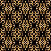picture of arabian  - beautiful decorative arabian seamless pattern - JPG