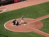 Giants Buster Posey Stands In Batters Box Waiting For Pitch