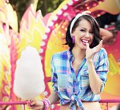 stock photo of candy cotton  - Toothy Smile - JPG