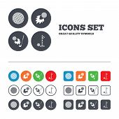 image of fireball  - Golf ball icons - JPG