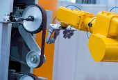 stock photo of water-mill  - CNC milling machine milling heads in metal industry - JPG