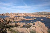 pic of granite  - Watson Lake at Watson Park is located some miles from Prescott Arizona USA - JPG