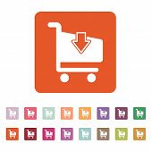 foto of cart  - The cart shoping icon - JPG