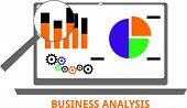 image of swot analysis  - An illustration showing a business analysis concept - JPG