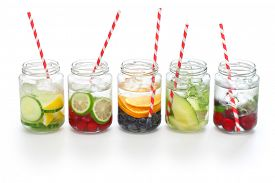 picture of cleanse  - detox water on white background - JPG