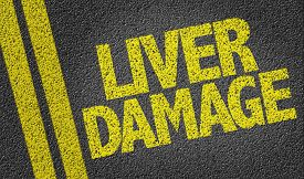 pic of underage  - Liver Damage written on the road - JPG