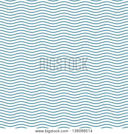 poster of Blue seamless wavy line pattern vector illustration. The stylized background from sea waves. Waves background. Waves pattern background. Waves sea background. Blue waves background.