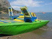 Waterbike on the sea