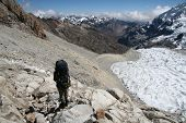 Going mountaineer on the  glacier